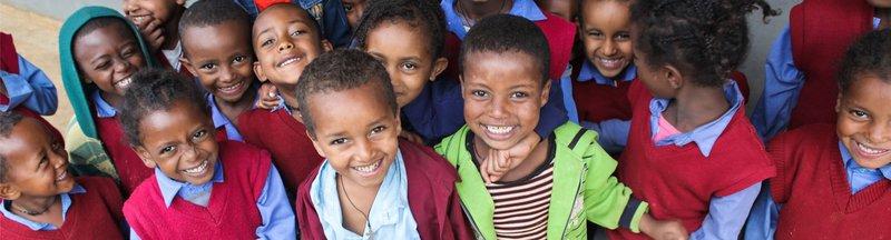 Students of Hidassie School, Addis Ababa